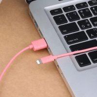 Nabíjací lightning kábel USAMS, 100cm, na iPhone alebo iPad. Synchronizačný a nabíjací kábel lightning pre iPhone iPad iPod (1)