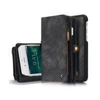 Peňaženka a magnetický obal na iPhone 66S z kože v čiernej farbe (2)
