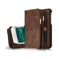 Peňaženka a magnetický obal na iPhone 66S z kože v hnedej farbe (2)
