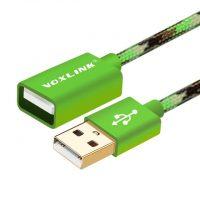 Predlžovací kábel USB 2.0 v maskáčovej farbe, 1 meter