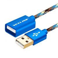 Predlžovací kábel USB 2.0 v modrej farbe, 5 metrov