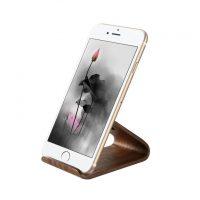 Univerzálny drevený držiak pre iPhone a iPad z orechového dreva