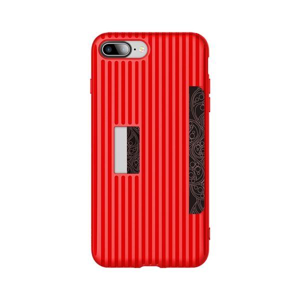 Kryt na kreditnú alebo debetnú kartu ROCK pre iPhone 7 v červenej farbe