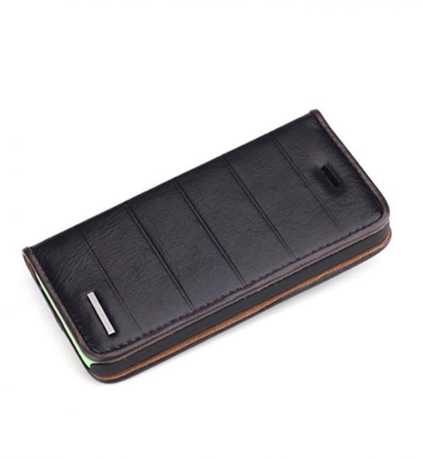 Praktické púzdro ROCK na iPhone 5C z kože v čiernej farbe (1)