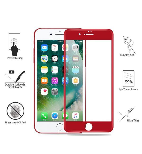 Set temperovaných skiel pre iPhone 6:6S, (RED) 2