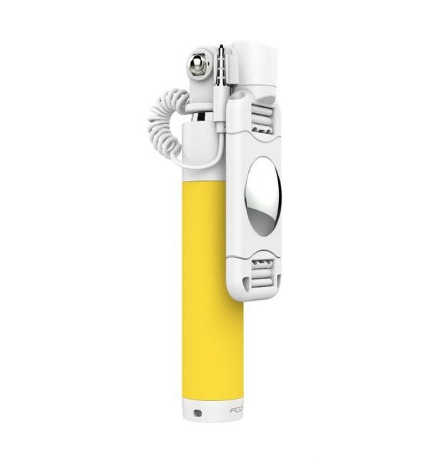 Univerzálna Selfie tyč pre smartfón ROCK v žltej farbe