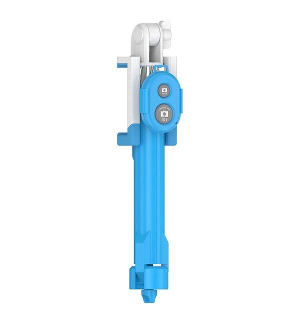 Bluetooth Selfie tyč s možnosťou stojanu s ďialkovým ovládaním, modrá farba