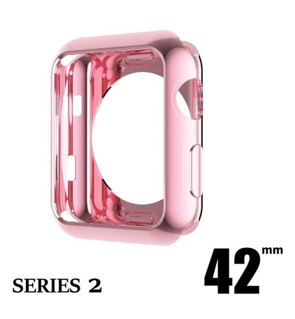 Elegantný ochranný kryt pre Apple Watch 42mm, Series 2 v ružovej farbe