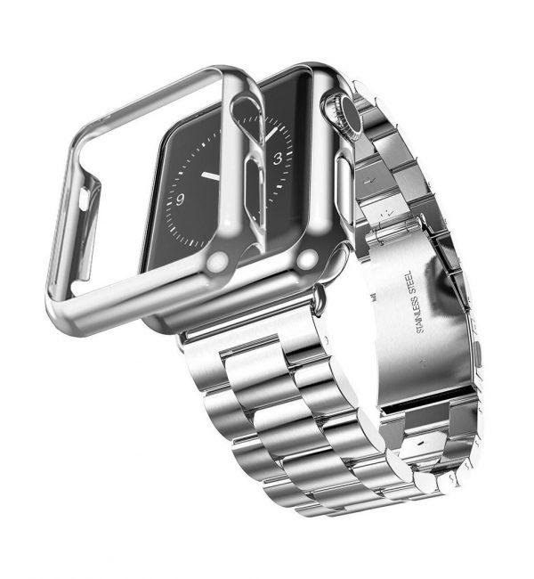 Luxusný ochranný kryt pre Apple Watch 38mm, Series 2 v striebornej farbe