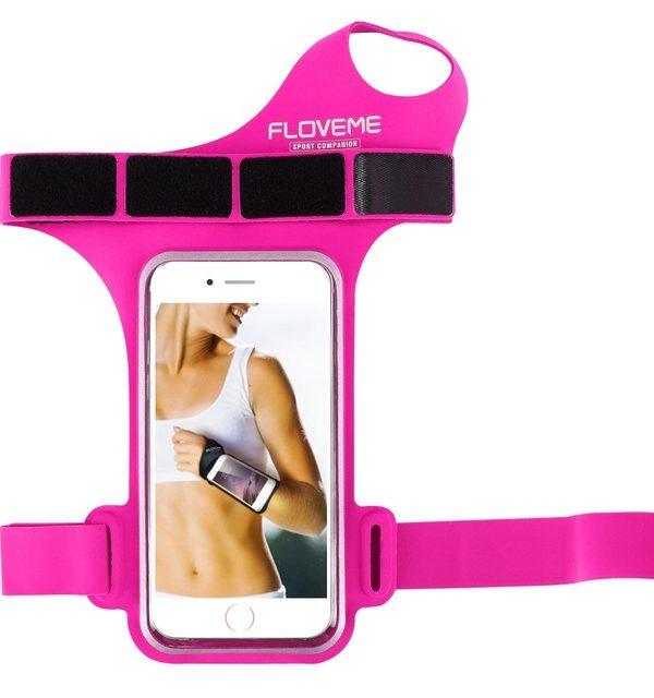 Púzdro na zápästie, púzdro na behanie pre iPhone 6, 6S, 7 v ružovej farbe