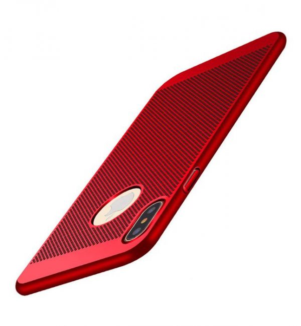 Štýlový kryt pre iPhone X v červenej farbe