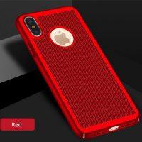 Štýlový kryt pre iPhone X v červenej farbe (2)