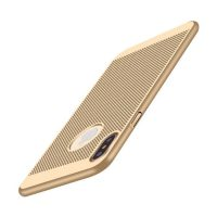 Štýlový kryt pre iPhone X v zlatej farbe