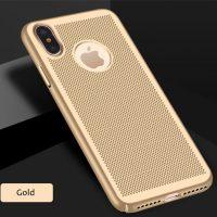 Štýlový kryt pre iPhone X v zlatej farbe (2)