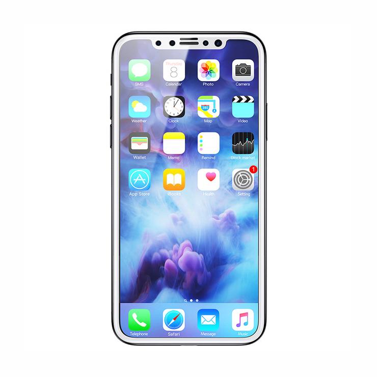 3D Ochranné sklo s filtrom diskrétnosti pre iPhone X, biela farba