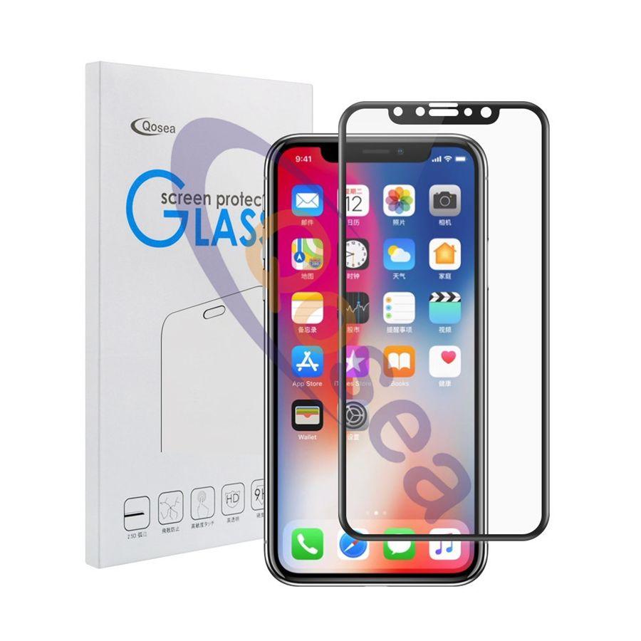 4D ochranné sklo pre iPhone X v čiernej farbe