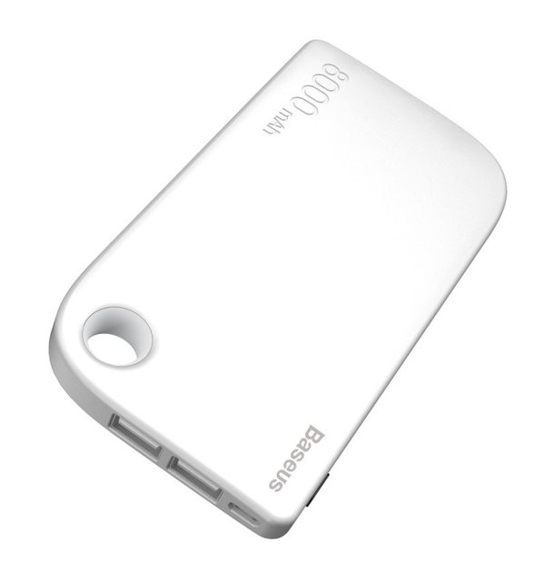 BASEUS Power Bank 8000mAh, externá batéria + kábel, biela farba