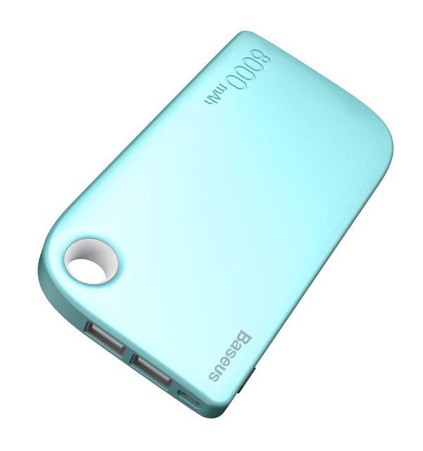 BASEUS Power Bank 8000mAh, externá batéria + kábel, modrá farba
