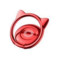 Držiak do ruky na iPhone BASEUS s magnetom v štýle mačky, červená farba