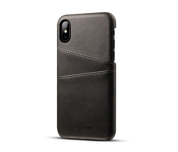 Kryt na kreditnú alebo debetnú kartu AOKIN pre iPhone 8 v čiernej farbe