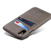 Kryt na kreditnú alebo debetnú kartu AOKIN pre iPhone 8 v šedej farbe (1)