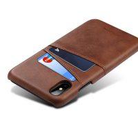 Kryt na kreditnú alebo debetnú kartu AOKIN pre iPhone 8 v hnedej farbe (1)