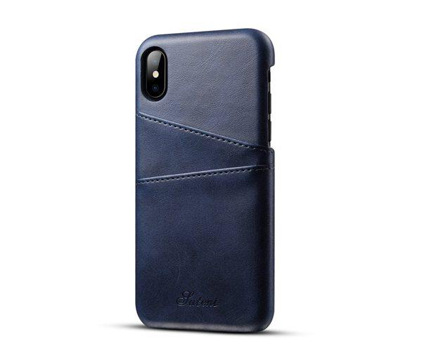 Kryt na kreditnú alebo debetnú kartu AOKIN pre iPhone 8 v modrej farbe