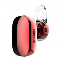 Mini Bluetooth Handsfree BASEUS, V4.1 Bluetooth v červenej farbe