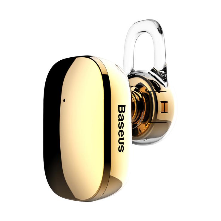 Mini Bluetooth Handsfree BASEUS, V4.1 Bluetooth v zlatej farbe