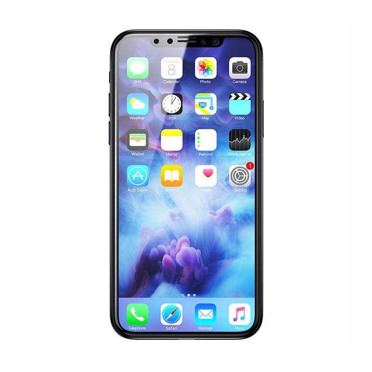 Ochranné sklo s filtrom diskrétnosti pre iPhone X, čierna farba