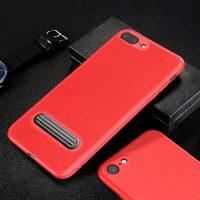 Ochranný kryt + držiak pre iPhone 7 a 8 v červenej farbe