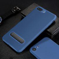 Ochranný kryt + držiak pre iPhone 7 a 8 v modrej farbe