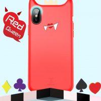 Originálny obal v štýle Dracula pre iPhone X v červenej farbe.