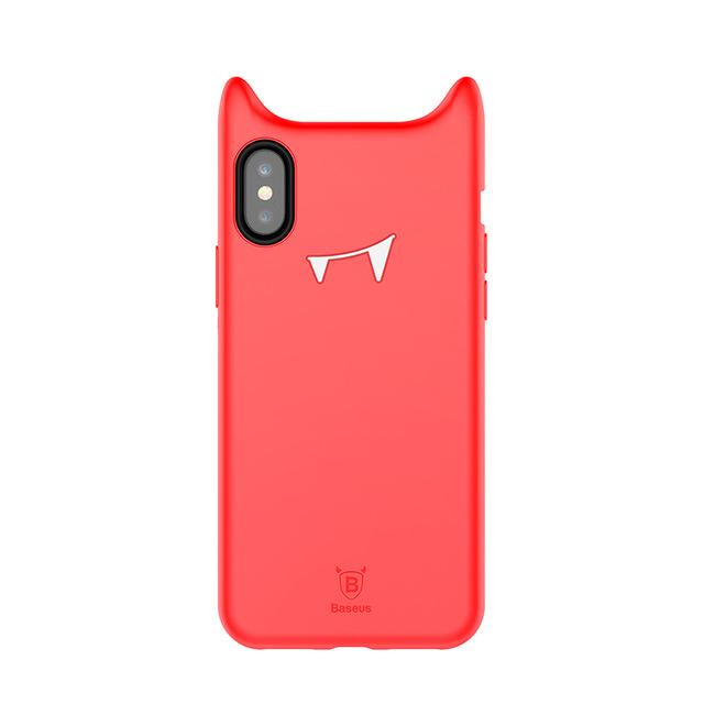 Originálny obal v štýle Dracula pre iPhone X v červenej farbe