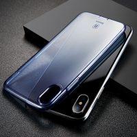 Silikónový kryt pre iPhone X, transparentný modrý