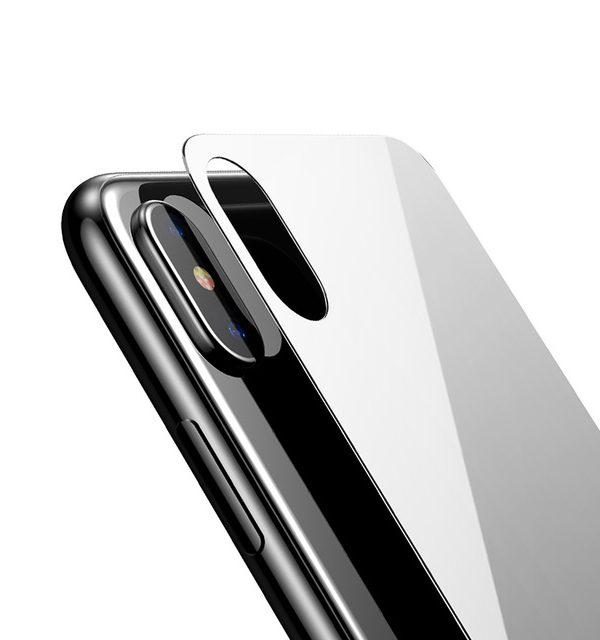 Tvrdené ochranné sklo na zadnú časť iPhonu X - biela farba