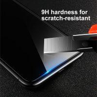 Tvrdené ochranné sklo pre iPhone X. Prekrýva prednú časť iPhone, tým chráni telefón pred poškodením a zachová jeho pôvodný stav (2)
