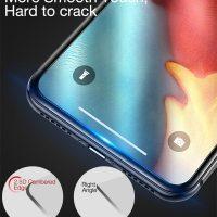 Tvrdené ochranné sklo pre iPhone XS. Prekrýva prednú časť iPhone XS, tým chráni telefón pred poškodením a zachová jeho pôvodný stav (4)