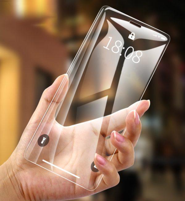 Tvrdené ochranné sklo pre iPhone XS. Prekrýva prednú časť iPhone XS, tým chráni telefón pred poškodením a zachová jeho pôvodný stav (5)