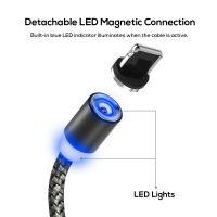 Magnetický nabíjací lightning kábel s LED osvetlením pre iPhone a iPad (1)