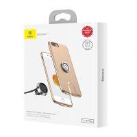QI bezdrótová nabíjačka do auta BASEUS na iPhone 7 a 8, zlatá farba