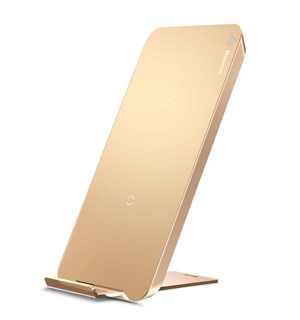 QI bezdrôtová nabíjačka na iPhone X, Baseus, zlatá farba (2)