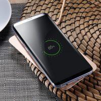 QI bezdrôtová nabíjačka na iPhone X, Baseus, zlatá farba (3)