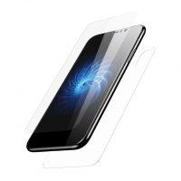 Tvrdené ochranné sklo na zadnú + prednú časť iPhonu X - transparent