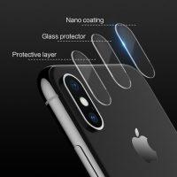Tvrdené ochranné sklo pre kameru iPhone X, 2ks. Prekrýva zadnú kameru Vášho iPhonu X, tým chráni kameru pred poškodením iPhonu X (2)