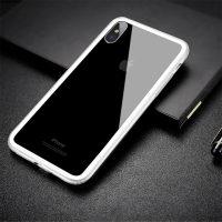 Jedinečný silikónový obal Bumper pre iPhone X v bielej farbe