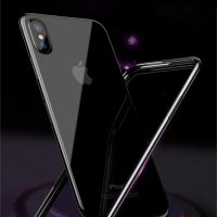 Jedinečný silikónový obal Bumper pre iPhone X v čiernej farbe,
