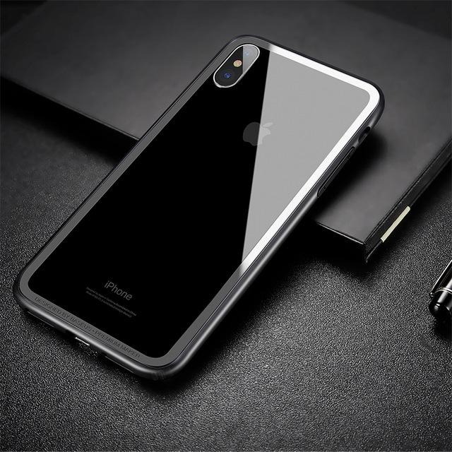 Jedinečný silikónový obal Bumper pre iPhone X v čiernej farbe
