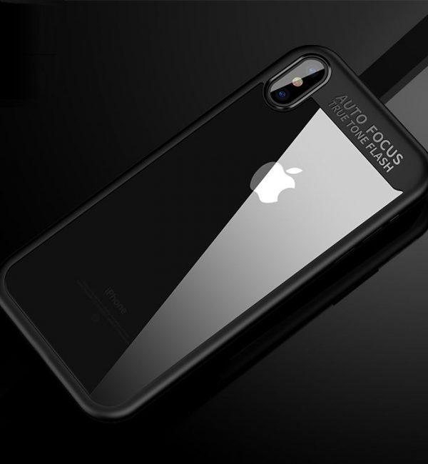 Jednoduchý silikónový kryt pre iPhone X v čiernom prevedeníJednoduchý silikónový kryt pre iPhone X v čiernom prevedení