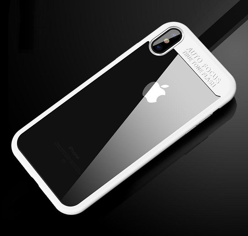 Jednoduchý silikónový kryt pre iPhone X v bielom prevedení